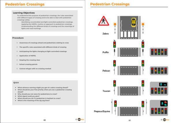 diagrams- pedestrian crossings