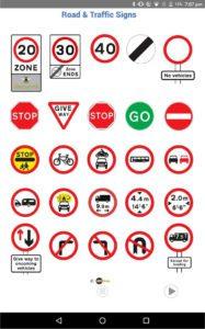 road signs app